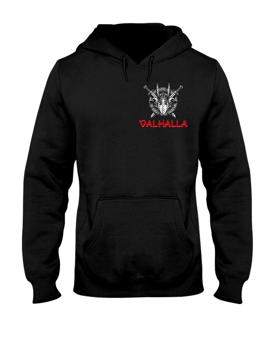 Brothers Await Him In The Halls Of Valhalla Viking Hooded Sweatshirt