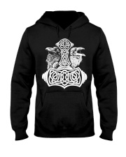 Viking Raven Hammer - Viking Shirts Hooded Sweatshirt thumbnail