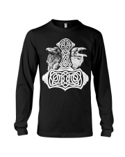 Viking Raven Hammer - Viking Shirts Long Sleeve Tee thumbnail