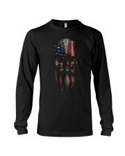 FLAG SKULL BEARD - VIKING T-SHIRTS Long Sleeve Tee thumbnail
