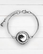 VIKING YIN YANG WOLF - VIKING BRACELET Metallic Circle Bracelet aos-bracelet-metal-front-lifestyle-2