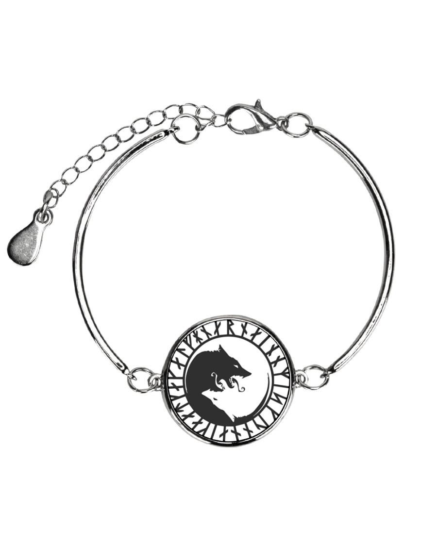 VIKING YIN YANG WOLF - VIKING BRACELET Metallic Circle Bracelet