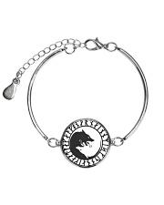 VIKING YIN YANG WOLF - VIKING BRACELET Metallic Circle Bracelet front