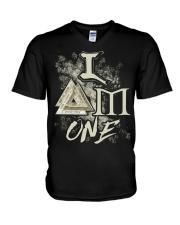I Am One Valknut - Viking Shirt V-Neck T-Shirt thumbnail