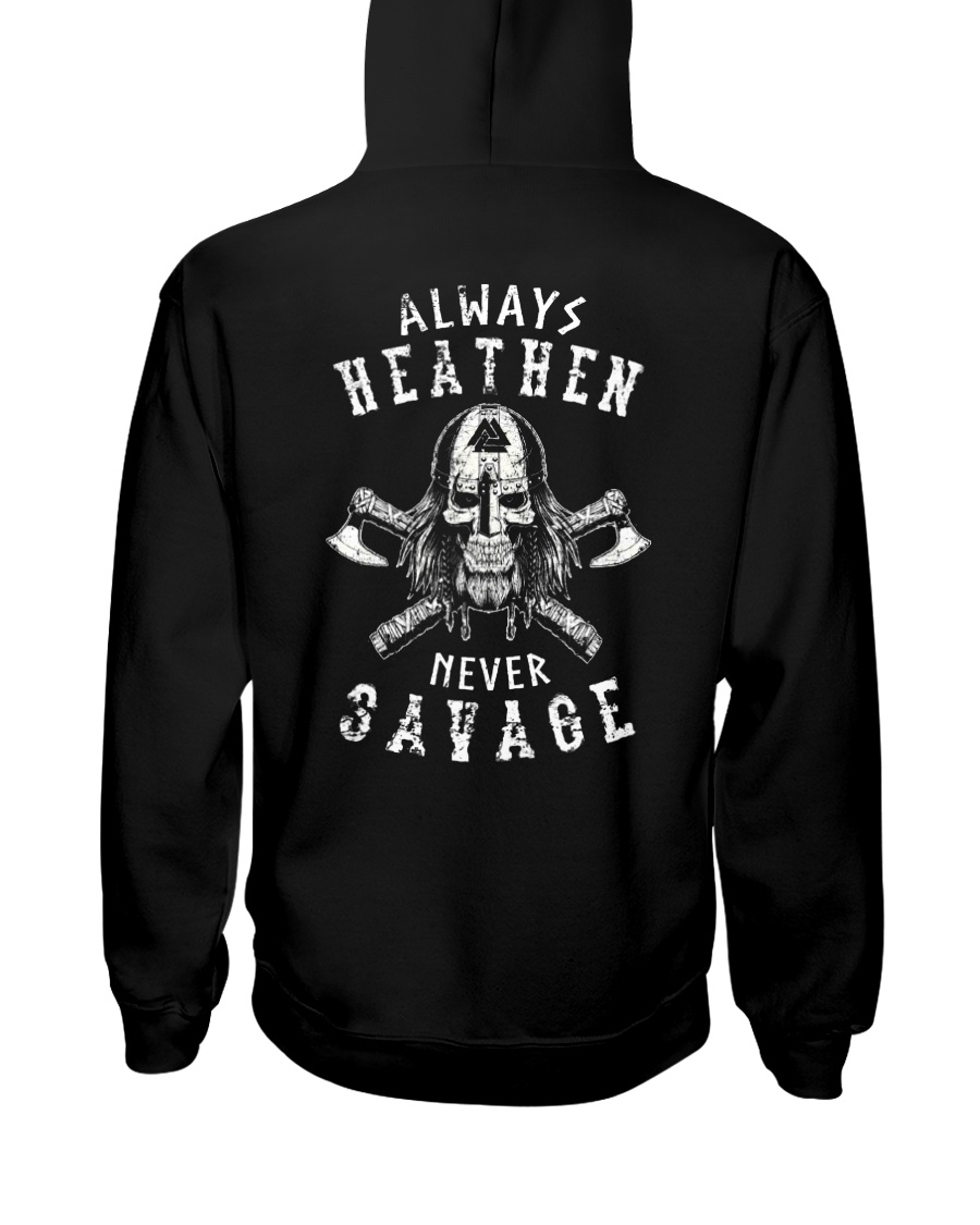 HEATHEN SAVAGE - VIKING T-SHIRTS Hooded Sweatshirt