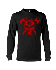 Valknut And Axe - Viking Shirts Long Sleeve Tee thumbnail