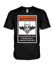 Viking Shirt - Viking Warning V-Neck T-Shirt thumbnail
