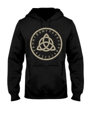 Trinity Knot Power of Three Viking Symbol Tribal Hooded Sweatshirt thumbnail