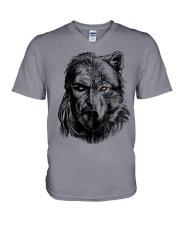 Wolf Viking Warrior  - Viking Shirt V-Neck T-Shirt thumbnail