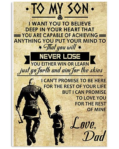TO MY SON - VIKING POSTERS