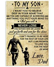 TO MY SON - VIKING POSTERS 11x17 Poster front