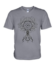 Viking Shirt - Yggdrasil Viking V-Neck T-Shirt tile