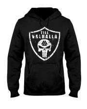 Viking Shirt - Till Valhalla Shield Hooded Sweatshirt thumbnail