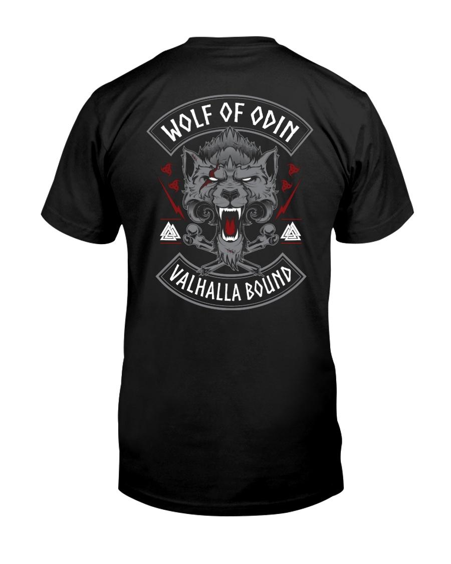 Viking Shirt : Wolf Of Odin Valhalla Bound Classic T-Shirt