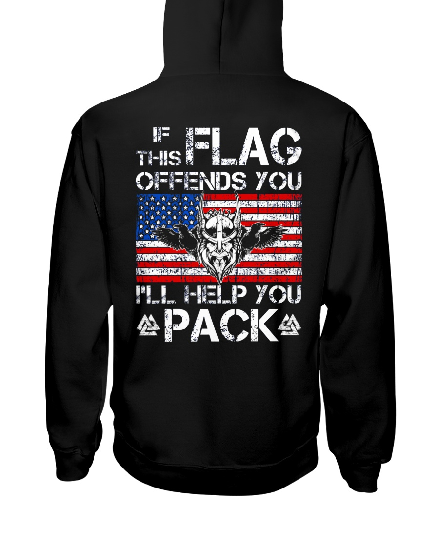 IF THIS FLAG OFFENDS YOU - VIKING T-SHIRTS Hooded Sweatshirt