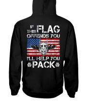 IF THIS FLAG OFFENDS YOU - VIKING T-SHIRTS Hooded Sweatshirt back