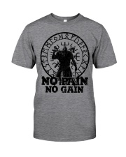 Viking T-shirts : No Pain No Gain Classic T-Shirt front