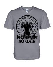 Viking T-shirts : No Pain No Gain V-Neck T-Shirt thumbnail
