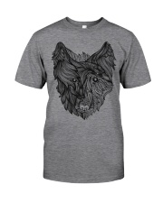 Viking Shirt - Raven And Wolf Of Odin Classic T-Shirt front