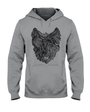 Viking Shirt - Raven And Wolf Of Odin Hooded Sweatshirt thumbnail