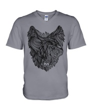 Viking Shirt - Raven And Wolf Of Odin V-Neck T-Shirt thumbnail
