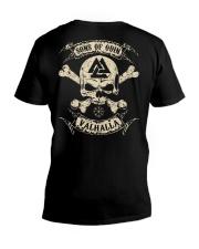 Sons Of Odin - Valhalla - Viking Shirt - Vegvisir V-Neck T-Shirt thumbnail