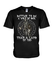 BETTER TO BE A WOLF OF ODIN - VIKING T-SHIRTS V-Neck T-Shirt thumbnail