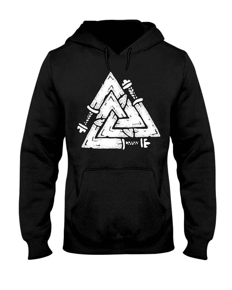 Valknut - Viking Shirt Hooded Sweatshirt