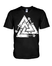 Valknut - Viking Shirt V-Neck T-Shirt thumbnail
