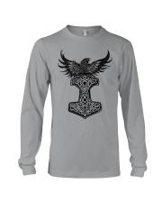 Viking Shirt : Raven And Viking Hammer Long Sleeve Tee thumbnail