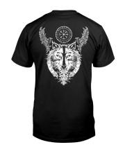 Viking Raven And Wolf - Viking Shirt Classic T-Shirt back