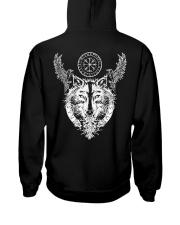 Viking Raven And Wolf - Viking Shirt Hooded Sweatshirt thumbnail