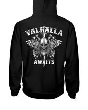 Viking Shirt : Valhalla Awaits Hooded Sweatshirt back