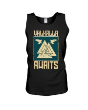 Viking Wolf - Valhalla Awaits Unisex Tank tile