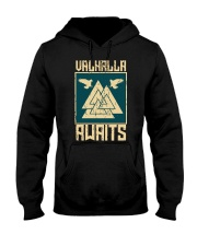 Viking Wolf - Valhalla Awaits Hooded Sweatshirt thumbnail