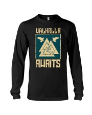 Viking Wolf - Valhalla Awaits Long Sleeve Tee thumbnail