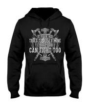 Viking Shirts : I Hope You Can Fight Too Hooded Sweatshirt thumbnail