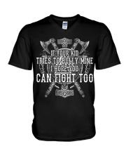 Viking Shirts : I Hope You Can Fight Too V-Neck T-Shirt thumbnail
