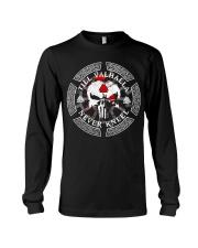 Viking Shirt - Till Valhalla Never Kneel Long Sleeve Tee thumbnail