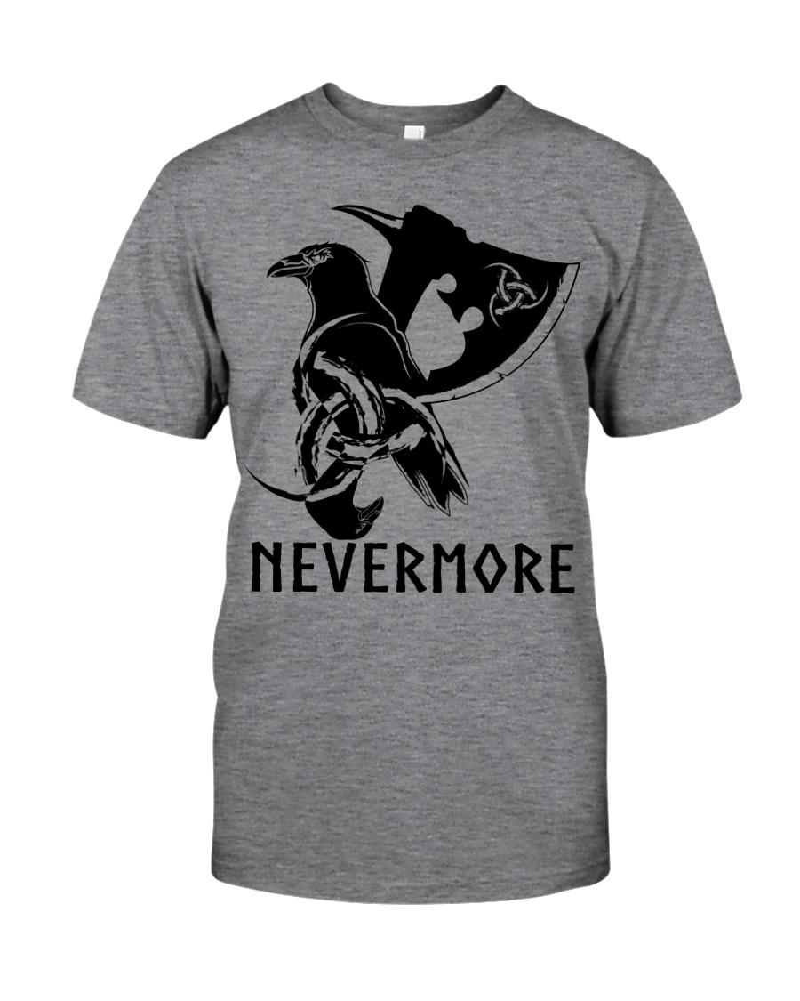 Viking Shirt - Nevermore Raven Viking Axe Classic T-Shirt