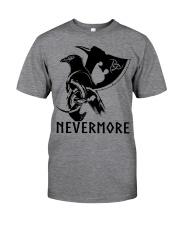 Viking Shirt - Nevermore Raven Viking Axe Classic T-Shirt front