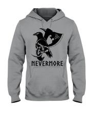 Viking Shirt - Nevermore Raven Viking Axe Hooded Sweatshirt thumbnail