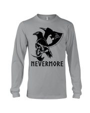 Viking Shirt - Nevermore Raven Viking Axe Long Sleeve Tee thumbnail