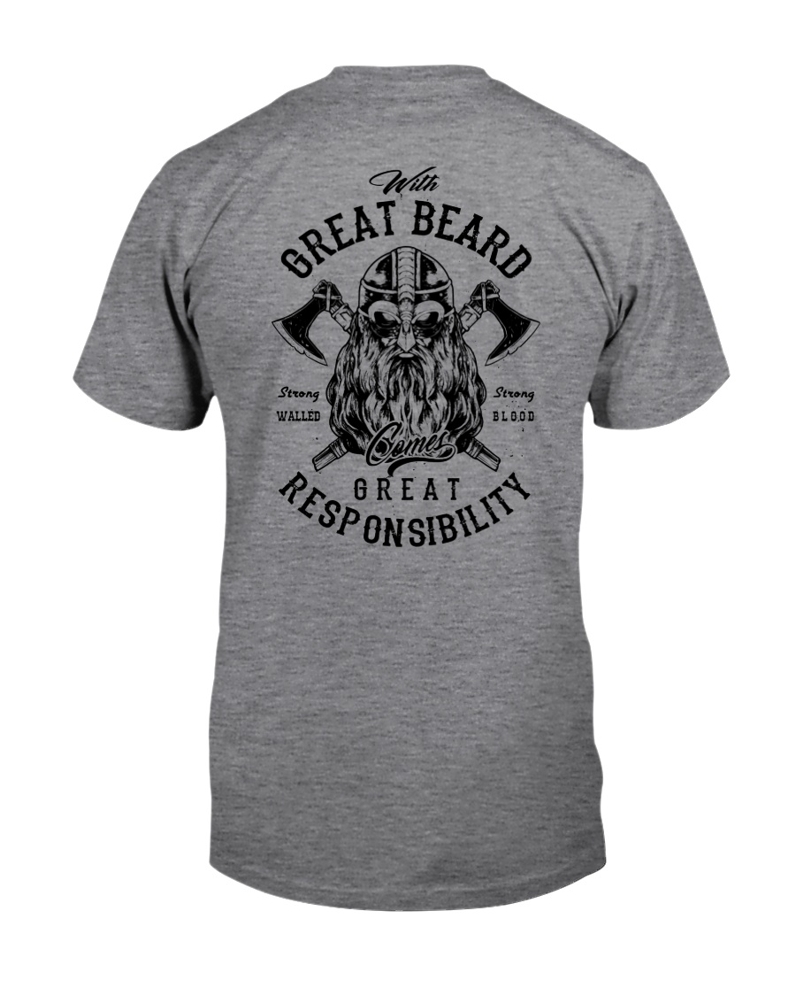 Viking Shirt : Great Beard - Great Responsibility Classic T-Shirt