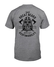 Viking Shirt : Great Beard - Great Responsibility Classic T-Shirt back
