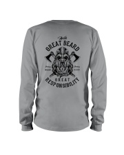 Viking Shirt : Great Beard - Great Responsibility Long Sleeve Tee thumbnail