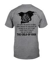 Viking shirt : Raven : The Child Of Odin Classic T-Shirt back