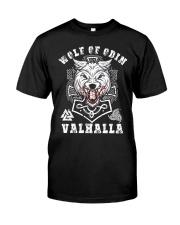 Viking Shirt : Wolf Of Odin Valhalla Classic T-Shirt front
