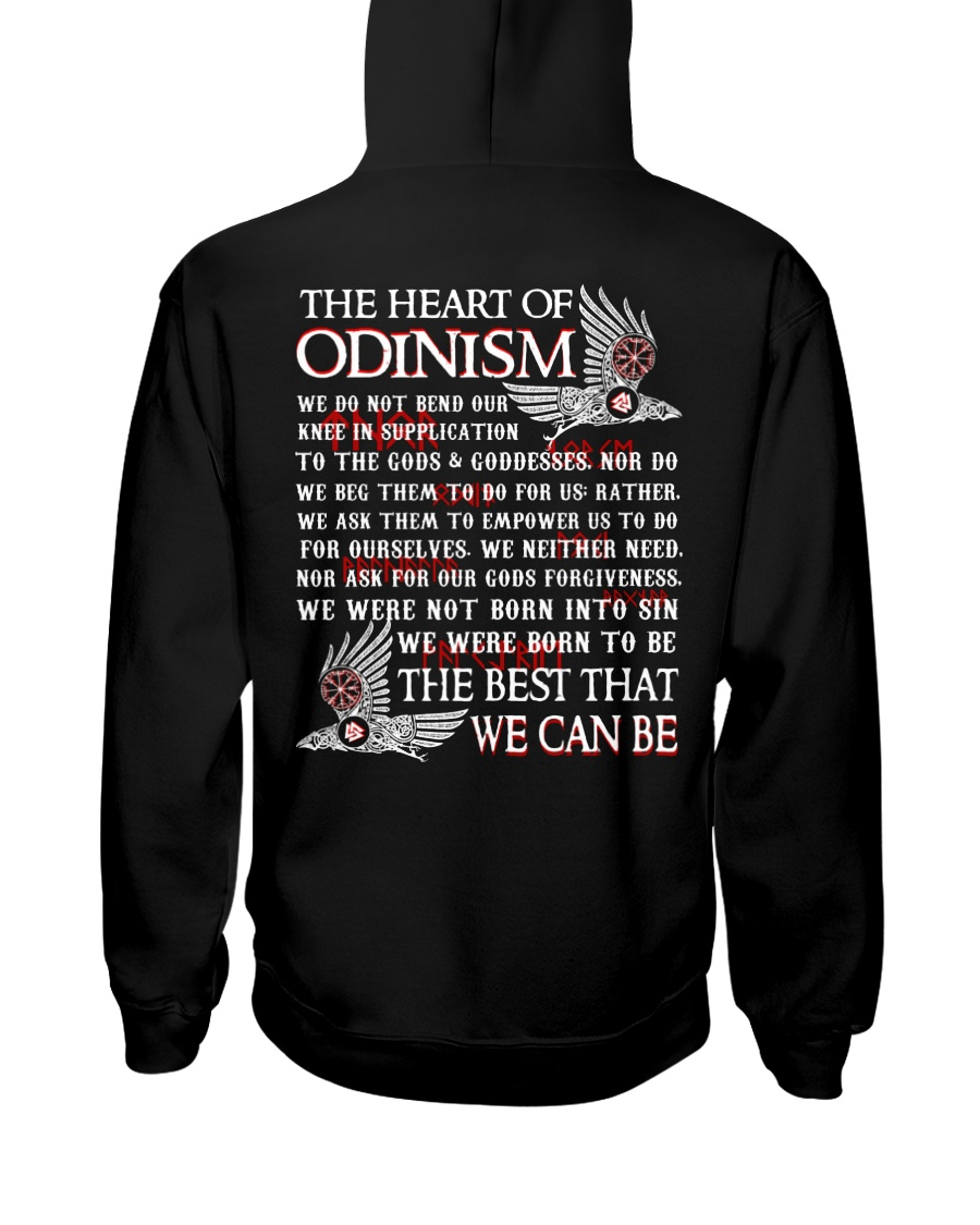 The Heart Of Odinism - Viking Shirt Hooded Sweatshirt