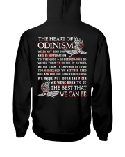 The Heart Of Odinism - Viking Shirt Hooded Sweatshirt back